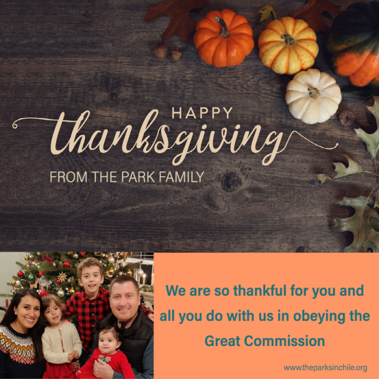 Happy Thanksgiving From The Park Family
